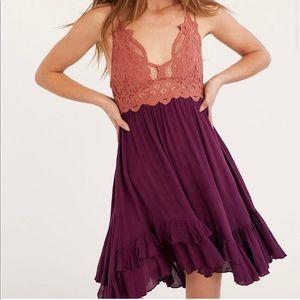 FREE PEOPLE Adella bralette slip dress size S NEW